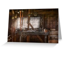 Steampunk - Machinist - My tinkering workshop  Greeting Card
