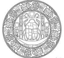 Resurrection Mandala - Print, Paint-You-Own by TheMandalaLady