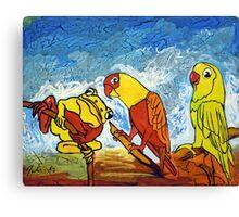 Parrots Office Canvas Print