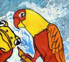Parrots Office Sticker