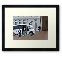 When the bus driver yelled out, 'time to get loaded' Dudley completely misunderstood. Framed Print