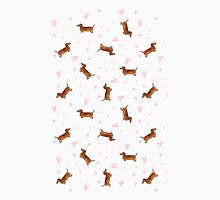 Dachshund Pattern - White T-Shirt