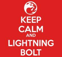 Keep Calm and Lightning Bolt by Ben Vagnozzi