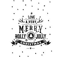 Christmas Lettering Photographic Print