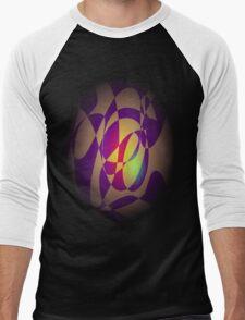 Yellow Flame Men's Baseball ¾ T-Shirt