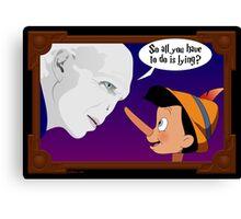 Voldemort meets Pinocchio Canvas Print