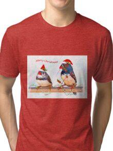Festive Finches Tri-blend T-Shirt