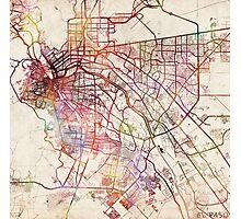 El Paso map Photographic Print