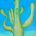 Saguaro Cactus Reaching Upward by Christine Chase Cooper