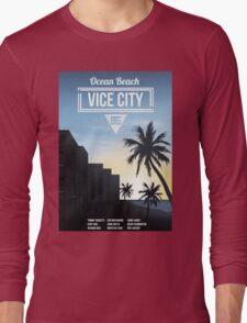 Vice City - Ocean Beach  Long Sleeve T-Shirt
