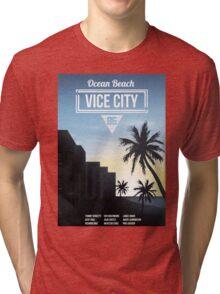 Vice City - Ocean Beach  Tri-blend T-Shirt