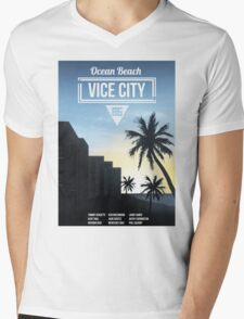 Vice City - Ocean Beach  Mens V-Neck T-Shirt