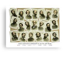 Confederate Commanders of The Civil War Canvas Print