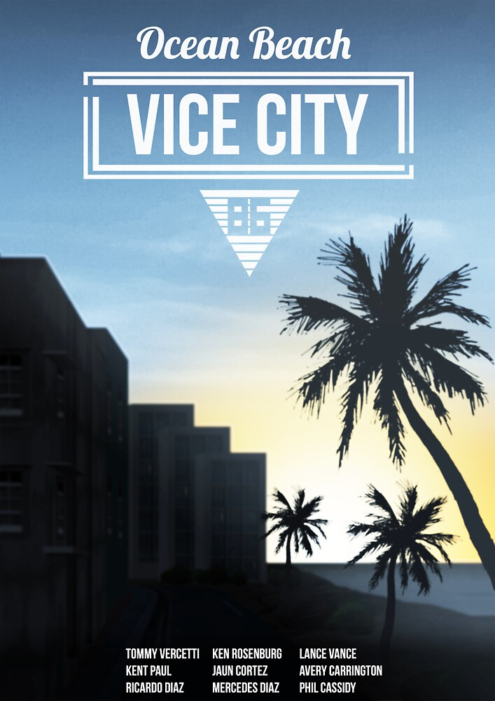 Vice City - Ocean Beach  by davepatey1