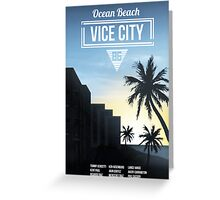 Vice City - Ocean Beach  Greeting Card