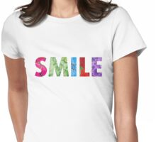 SMILE Happy Quote #02 Womens Fitted T-Shirt
