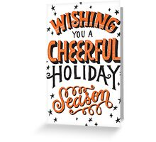 Christmas Lettering Greeting Card