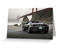 Ferrari 458 Spider | Golden Gate Greeting Card