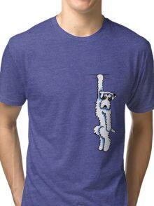 Clingy Sealyham Terrier Tri-blend T-Shirt