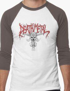 Death Metal Demonic-Skull Men's Baseball ¾ T-Shirt