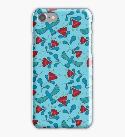 Bird and flower pattern iPhone Case/Skin
