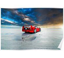 Ferrari F40 | Sunrise Poster