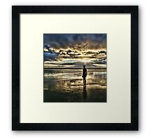 Crosby Beach - Another Place Framed Print