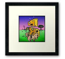 Robot Pig Squeezer Framed Print