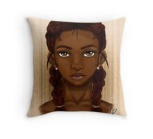 A Dark beauty Throw Pillow