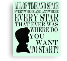 Doctor Who 'Time and Space'  Canvas Print