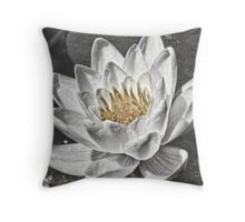 Lily of the Water Throw Pillow