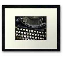 Old Typewriter Framed Print