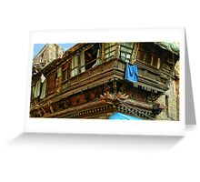 Kathmandu Market Building Greeting Card