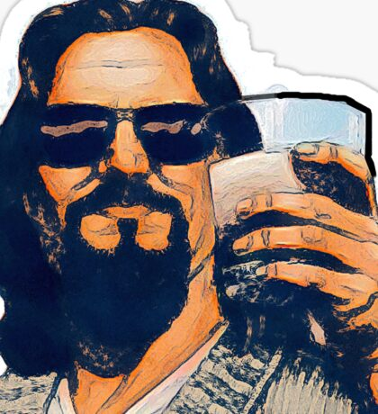 The Dude and the White Russian Sticker
