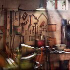 Steampunk - Machinist - The inventors workshop  by Mike  Savad