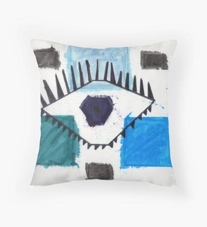 Eye in Symmetry Throw Pillow