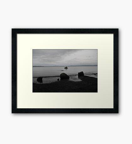 Dark Night at Beach Framed Print