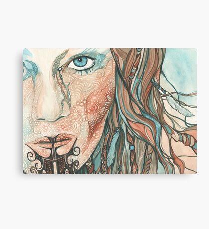 Ta Moko Maori Woman Canvas Print