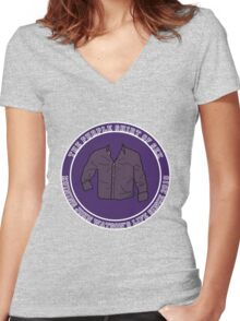 The Purple Shirt Women's Fitted V-Neck T-Shirt