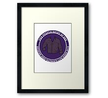 The Purple Shirt Framed Print
