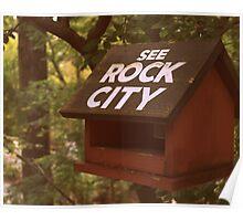 Sepia Bird House Advert Poster