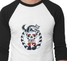 Lucky 13 - Black Cat Men's Baseball ¾ T-Shirt