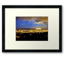 she's hiding Framed Print