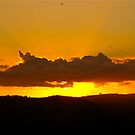 April Sunset, East Devon by Mike  Waldron
