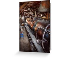 Locomotive - Routine maintenance  Greeting Card