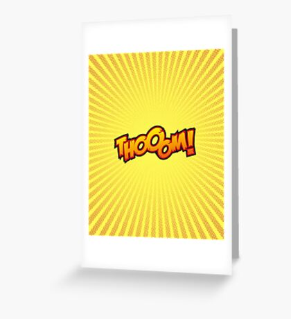 Thooom! Greeting Card