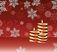 Candle and Snowflakes 4 by AnnArtshock