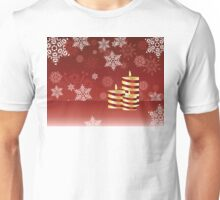 Candle and Snowflakes 4 Unisex T-Shirt