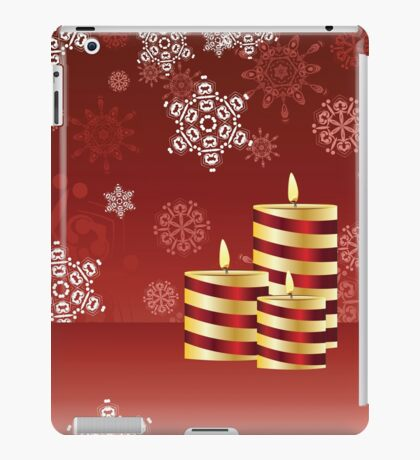 Candle and Snowflakes 4 iPad Case/Skin