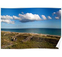 Emerald Isle Beach, Between the Dunes and Clouds Poster